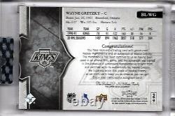 17/18 UD Splendor Borderless Silver Wayne Gretzky Auto Jersey #15/22