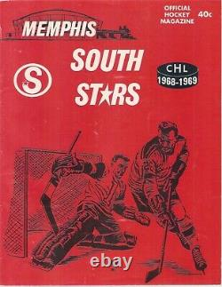 1970s MEMPHIS SOUTH STARS USED VINTAGE DURENE HOCKEY JERSEY MINNESOTA NORTH GAME