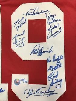 1972 Team Canada Multi Signed Jersey With AJ Sports World COA