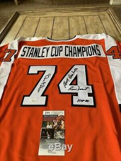1974 Stanley Cup Champions Autographed/Signed Jersey JSA Philadelphia Flyers 74
