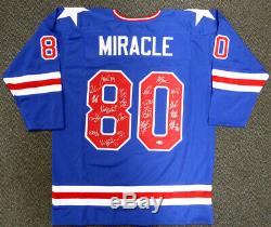 1980 Miracle On Ice Team USA Autographed Jersey 20 Sigs Psa/dna Itp 113797