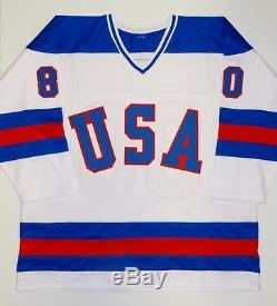1980 Miracle On Ice Team USA Autographed White Jersey With 20 Sigs- JSA W Auth