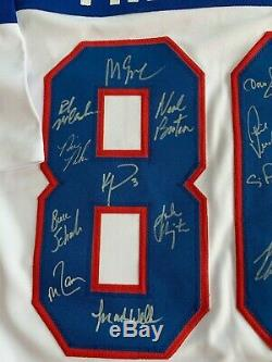 1980 Team USA Miracle On Ice Team Signed Custom Jersey with 19 Signatures JSA