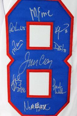 1980 USA Hockey Team (19) Signed White Jersey (Craig, Eruzione) JSA Witness