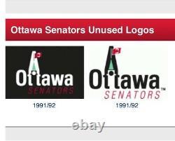 1991 1992 OTTAWA Senators Hockey Jersey Peace Tower Promo Logo Pre NHL Vintage M