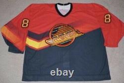 1995/96 Vancouver canucks Red Alternate Pro Hockey Jersey