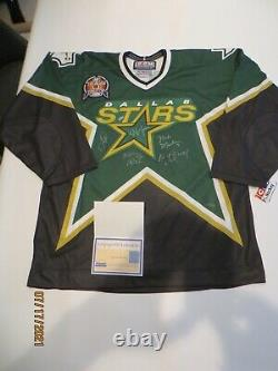 1999 Dallas Stars Stanley Cup Team Autographed CCM Authentic On Ice Game Jersey