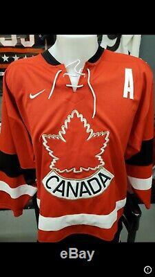 2002 Team Canada Nike Rep Steve Yzerman Autographed Jersey With COA