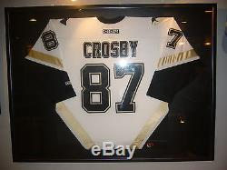 2005 Sidney Crosby Pittsburgh Penguins Rookie Signed 37x49'' Framed Jersey Loa