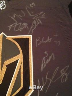 2017 2018 Vegas Golden Knights Team AUTHENTIC Signed Jersey COA Fleury Neal