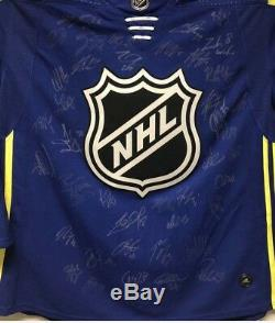 2018 NHL All Star Game team Signed Jersey McDavid Matthews Crosby Ovi (AHL COA)