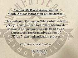 2020 UDA Threads Connor McDavid Signed Autographed Authentic Jersey Oilers Auto