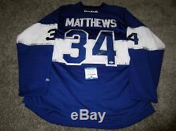 AUSTON MATTHEWS Toronto Maple Leafs SIGNED Autographed JERSEY with BAS COA XL