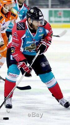 Adam Keefe Belfast Giants 2016/17 Game Worn Ice Hockey Jersey