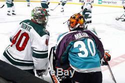 Adidas Anaheim Mighty Ducks Ryan Miller Signed Jersey Used Warm Up Jersey