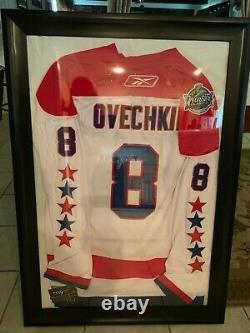 Alex Ovechkin Washington Capitols Framed Autographed Jersey
