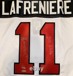 Alexis LaFreniere Autographed White Team Canada Authentic Nike Jersey with UDA COA