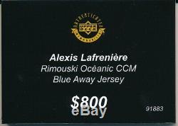 Alexis Lafreniere Upper Deck UDA Rimouski Oceanic Jersey AUTOGRAPH #1 Draft Pick