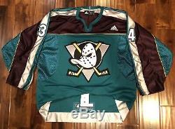 Anaheim Mighty Ducks Sam Steel Authentic Jersey Adidas Warm Up 52