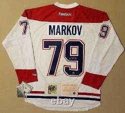 Andrei Markov Montreal Canadiens Autographed Reebok Premier Hockey Jersey