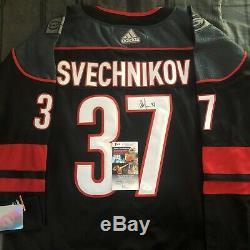 Andrei Svechnikov Signed Jersey Home Alt Hurricanes Autographed Auto Jsa Coa
