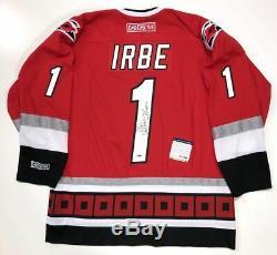 Arturs Irbe Signed 2002 Carolina Hurricanes Stanley Cup CCM Jersey Psa/dna Coa
