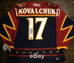 Atlanta Thrashers Jersey Autographed IILYA Kovalchuk PRO CCM GAME NWT JSA