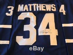 Auston Matthews Toronto Maple Leafs Autographed Signed Jersey size L JSA LOA