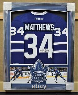 Auston Matthews Toronto Maple Leafs Framed Signed Jersey Fanatics Authentic