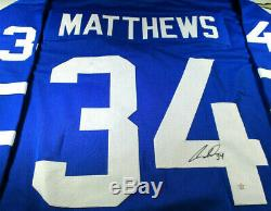 Auston Matthews / Toronto Maple Leafs / Hand Signed Custom Hockey Jersey / Coa