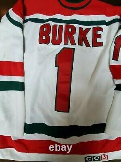 Authentic New Jersey Devils CCM Ultrafil Christmas Tree Jersey Sean Burke
