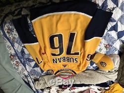 Authentic PK SUBBAN NASHVILLE PREDATORS NHL HOCKEY JERSEY SIGNED
