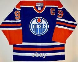 Auto Uda Wayne Gretzky Edmonton Oilers Double Tagged CCM Jersey