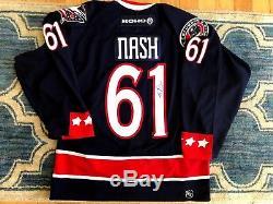 Autographed Authentic Rick Nash Koho Columbus Blue Jackets Jersey Size 46 Bruins
