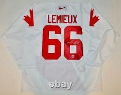 Autographed Dpisports Mario Lemieux Team Canada Nike Jersey