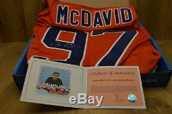 Autographed Edmonton Oilers Conner McDavid #97 Signed Jersey with COA Size Large