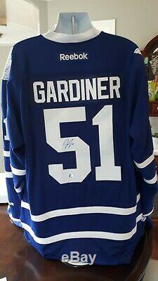 Autographed Jake Gardiner toronto maple leafs Reebok Jersey Coa frozen pond