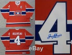 Autographed Jean Beliveau Montreal Canadiens Jersey