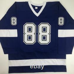 Autographed/Signed ANDREI VASILEVSKIY Tampa Bay Blue Hockey Jersey PSA/DNA COA