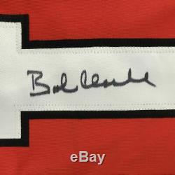 Autographed/Signed BOBBY BOB CLARKE Philadelphia Orange Hockey Jersey JSA COA