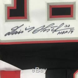 Autographed/Signed DOMINIK HASEK HOF 14 Buffalo Black Hockey Jersey JSA COA Auto