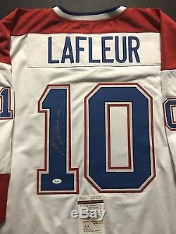 Autographed/Signed GUY LAFLEUR Montreal Canadiens White Hockey Jersey JSA COA