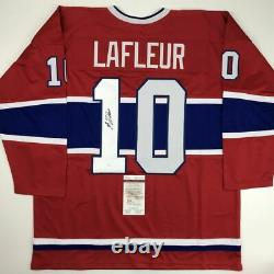 Autographed/Signed GUY LAFLEUR Montreal Red Hockey Jersey JSA COA Auto