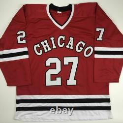 Autographed/Signed JEREMY ROENICK Chicago Red Hockey Jersey JSA COA Auto