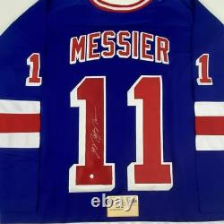 Autographed/Signed MARK MESSIER New York Blue Hockey Jersey Steiner Sports COA