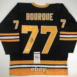 Autographed/Signed RAY BOURQUE Boston Black Hockey Jersey JSA COA Auto