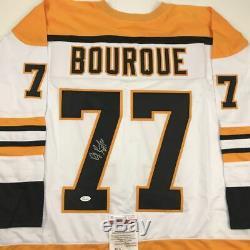 Autographed/Signed RAY BOURQUE Boston White Hockey Jersey JSA COA Auto