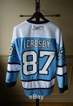 Autographed/signed #87 Sidney Crosby C Pittsburgh Penguin Jersey Reebok L