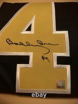 BOBBY ORR, AUTOGRAPHED Boston Bruins FLYING GOAL Jersey with GNR (BOBBY ORR) COA