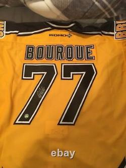 BOSTON BRUINS RAY BOURQUE SIGNED AUTHENTIC JERSEY withCOA